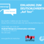 Einladung zum Deutschlehrertag auf Tour_de