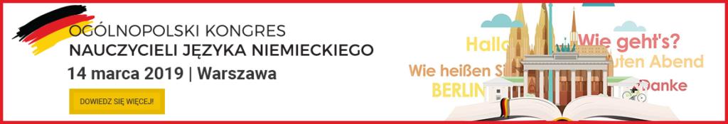 Ogólnopolski Kongres Nauczycieli Języka Niemieckiego - Warszawa, 14 marca 2019